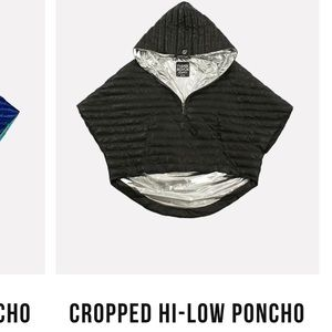 Think Rolyn Cropped High Low poncho . Retail 268